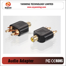 rca audio video splitter adapter
