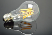 A19 LED Filament Light Bulb Clear Glass Cover E26 2800K Dimmable