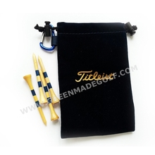 Blue Color Golf Tee Bag with Customized Logo