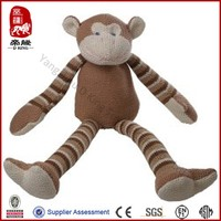 brown stripped knitted monkey wholesale