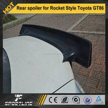Carbon Fiber racing rear spoiler for Rocket Style Toyota GT86/BRZ FT86 12-13