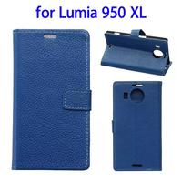 wholesale cell phone case leather flip cover for nokia lumia 950 xl