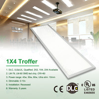 UL DLC listed reflective ceiling panels AC85-277V panel1x4 5 years warranty