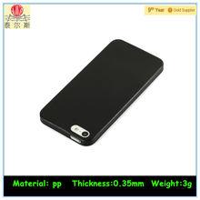 Black Ultra-Thin Matte Rubberized Slim Hard Back Shell Case for Apple iPhone 5S