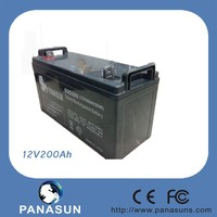 12V200ah lead acid solar battery charger used for ups with cheaper price