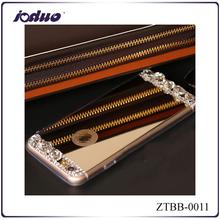 Eaby HOT sales fashion rhinestone mirror design phone shell for iphone 6