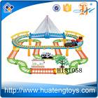 H181058 venda quente do produto 119 pcs elétrica plastoic trem railway set brinquedo com luz de som