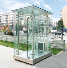 glass sentry box security guard house