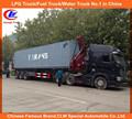 2 eje o tri-axle self loading remolque XCMG grúa, 36 toneladas 3 eje lado loader remolque para 40ft