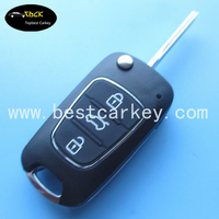 Topbest 3 button remote flip key for nissan key nissan tiida remote key 315mhz
