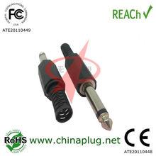 Audio connector mono headphone jack