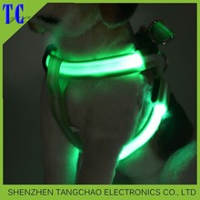 Pet products adjustable LED Dog Harness Wholesale Pet Products LED Pet Harness with bright light for Dogs