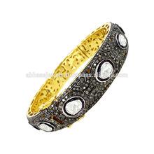 14k pulsera de oro, 925 pulsera de plata, diamante de oro para mujer de moda pulsera joyas mayorista