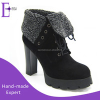 ladies brand new design high heels shoes platform boots shoes women winter 2016