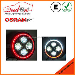 Qeedon car tuning emark dot 7'' lamp 4*4 7 inch round