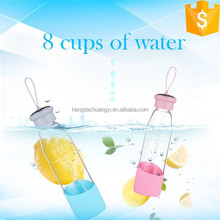 550 ml silicone custom glass water bottle water glass bottle
