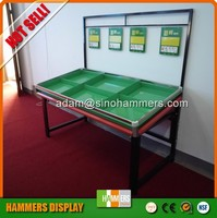 Customized supermarke acrylic fruit Vegetable display stand, storage stand
