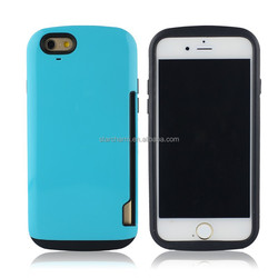 2015 new phone case hard case for Iphone 6 With Card Holder, for Iphone 6/6plus cover