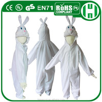 HI CE high quality white bunny baby costume for kids