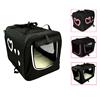 Fabric dog pet crate soft pet carrier folding fabric dog crate