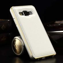 Bicolors aluminum bumper for samsung galaxy a3 back case