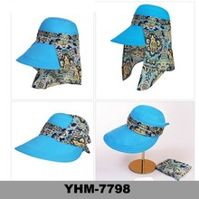 Wholesale Summer Outdoor Wide Brim Cover Neck Flap Fishing Hiking and driving Sun Protection Cap