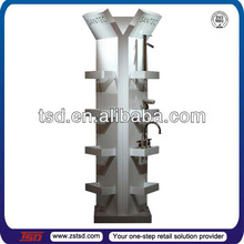 TSD-W303 Custom retail store high quality wood floor faucet display,display stand for faucet,faucet display stand