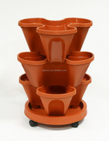 flower pot holder with wheels