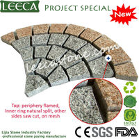Natural granite stone fan patio path stone paver