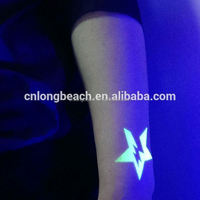 hot sale face letter glow in the dark flash country dragon flag body temporary tattoo sticker for kids