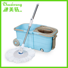 2015 Newest popular plastic cleaning mop bucket with wheels