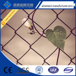 High Quality PVC Coated Chain Link Fence, Galvanized Chain Link Fence