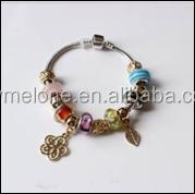 flower Glass beads DIY bracelets for women wholesale murano glass bead bracelet