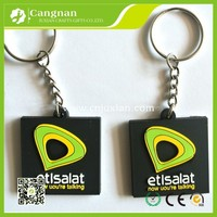 promotion 2d custom rubber soft pvc keychain