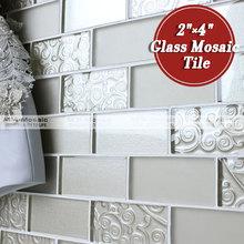 """MM mosaico 2 """" x 4 """" cocina metro azulejos de mosaico de vidrio"""