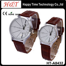 Japan Movement Cheap Price Leather Lover Couple Watches
