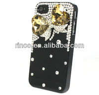 3D Deluxe Bling Blue Crystal Dragonfly Handmade Case Cover For Apple iPhone 4 4g 4s