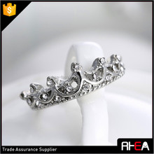 best selling silver color alloy crown ring ,fashion wedding ring ,bridal ring jewelry