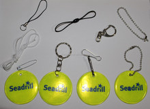 reflective keychain with ball chain for children