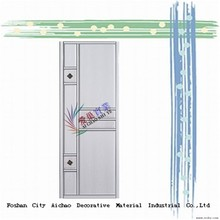 wardrobe closet glass sliding door wardrobe with Pvc Coated from Guangdong