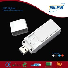 Silfa new invented with 2-32GB flash rechargeable USB samsung hotmail wellington lighter phone case