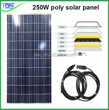 China factory price per watt solar panel 250W with high efficiency high quality