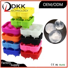 Colors Soft Silicone Push Up Ice Lolly Pop Ice Cream Jelly Makers Ice Molds Moulds (Red & Green & Orange & Sky-blue)