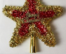 YUWU Caddy SDZS-084 2015 New decorative plastic star christmas ornaments with names