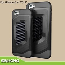 Luxury Cell Phone Accessory TPU Carbon Board Mobile Case For iPhone6 Plus
