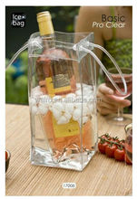 Direct factory PVC wine cooler plastic bag,fashion pvc wine cooler bag