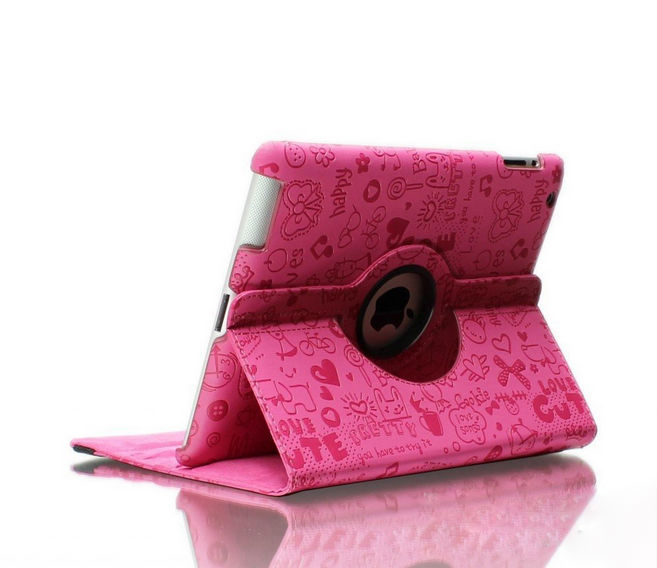 2014 Hot selling Mini Small Girl series PU protetive for rotating ipad case