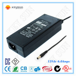 Hot consumer electronics products universal switching laptop adapter power supply adapter 15V 6A