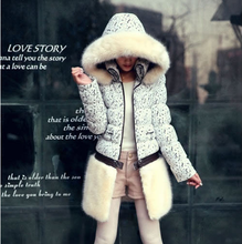 Thick warm winter coat cheap fur coats ladies down coats with fur hood