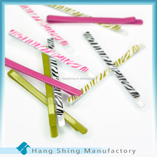 Wholesale Fancy Hairpin, Flat bobby pins with animal print
